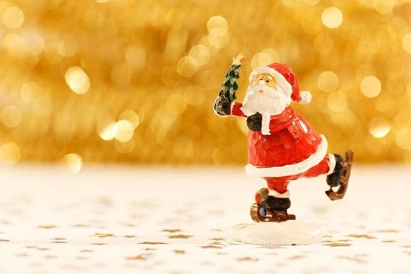サンタがプレゼントをくれる